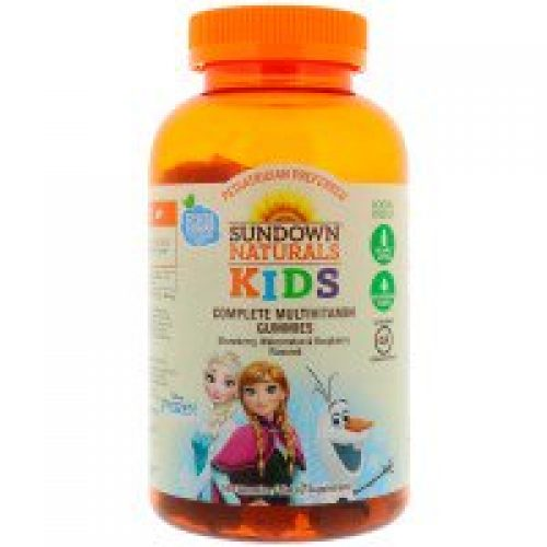 Sundown Naturals Kids, 컴플리트 멀티비타민 거미스, 디즈니 겨울왕국, 딸기, 수박 & 라즈베리 맛, 180 거미스