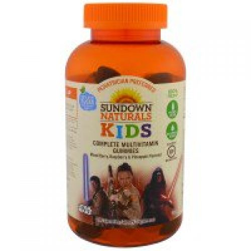 Sundown Naturals Kids, 키즈, 컴플리트 멀티비타민 젤리, 디즈니 스타워즈, 믹스 베리, 라즈베리 & 파인애플, 180 개