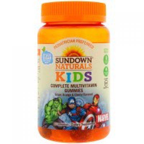 Sundown Naturals Kids, 컴플리트 멀티비타민 거미스, 마블 어벤저스, 포도, 오렌지 & 체리 맛, 60 거미스