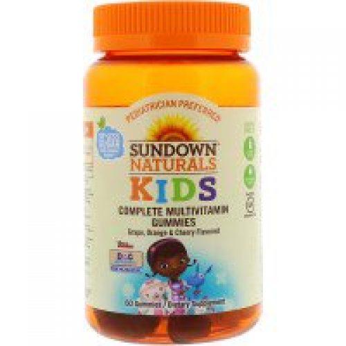 Sundown Naturals Kids, 컴플리트 멀티비타민 거미스, 디즈니 꼬마의사 맥스터핀스, 포도, 오렌지 & 체리 맛, 60 거미스