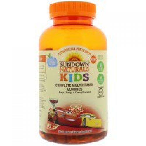Sundown Naturals Kids, Complete Multivitamin Gummies, Disney Cars 3, Grape, Orange & Cherry Flavored, 180 Gummies