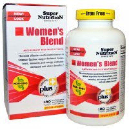 Super Nutrition, 우먼스 블렌드, 철분없음, 180정