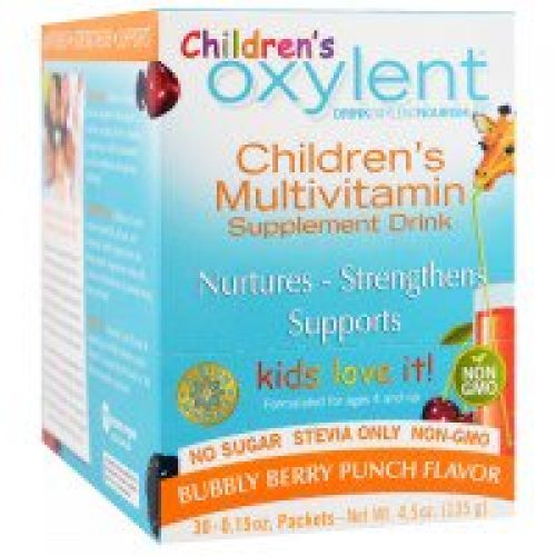 Vitalah, 어린이용 옥실렌트, 복합비타민 보충 음료, 버블리 베리 펀치, 스틱형 패킷 30개입, 각 4.5g