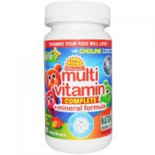 Yum-V's, 멀티비타민 컴플리트 + 미네랄 포뮬러, 과일맛, 젤리곰 60 개