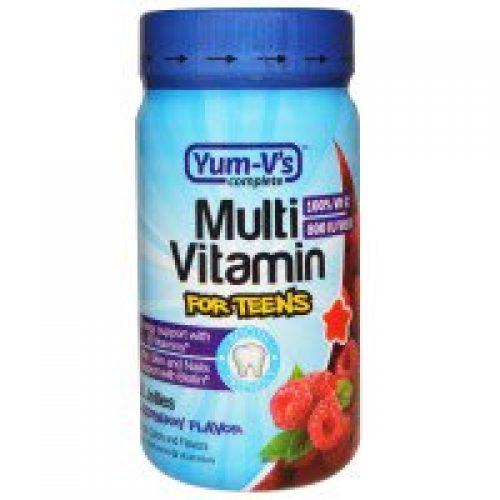 Yum-V's, 멀티 비타민 청소년용, 라즈베리 향, 60개입