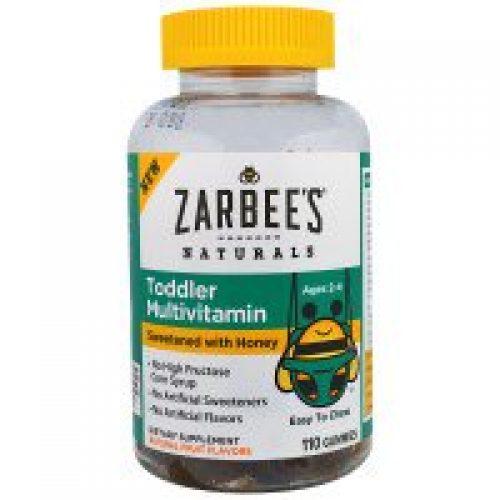 Zarbee's, 유아 복합비타민, 꿀 첨가 감미, 110 거미즈