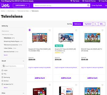 Jet.com 블랙프라이데이 TV 세일 링크